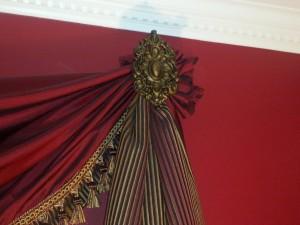 installed large drapery medallion