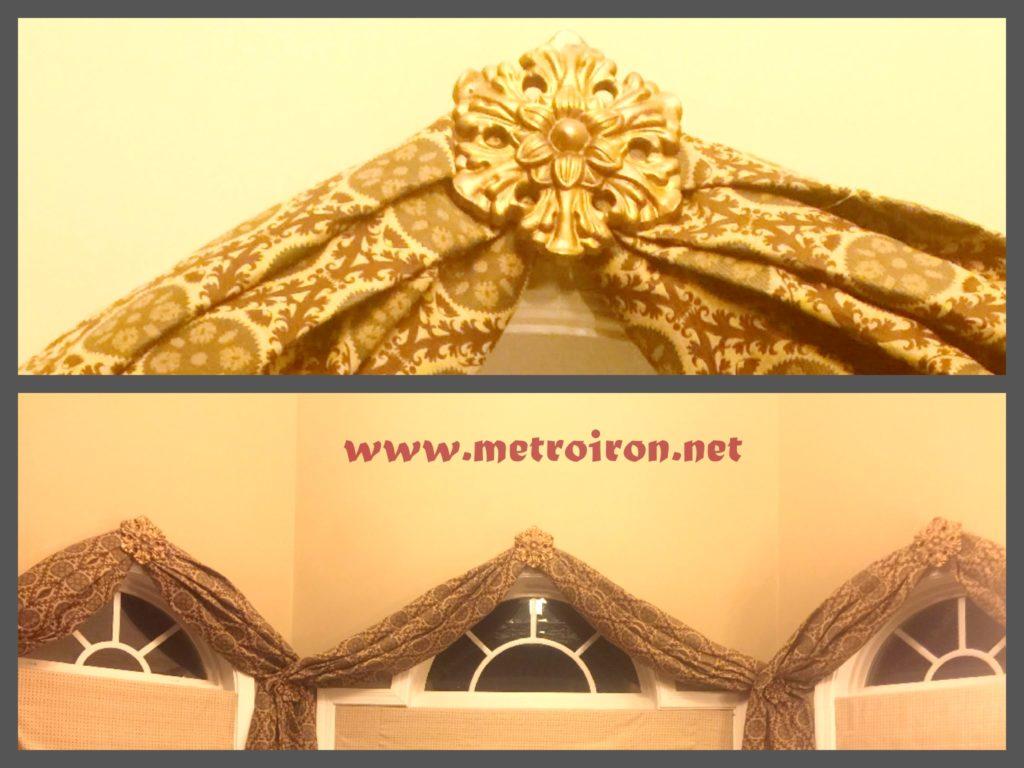 Drapery Medallions Holdbacks Curtain Tiebacks | Metro Iron